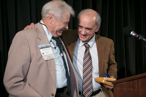Jim McCollum and Dan medal