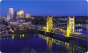 Sacramento Image bridge and downtown