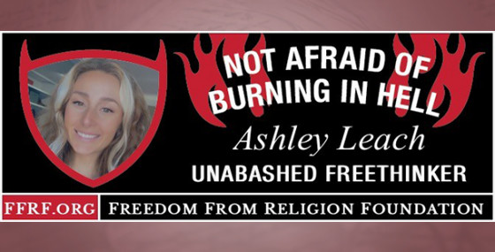 This week's Not Afraid of Burning in Hell Winner!