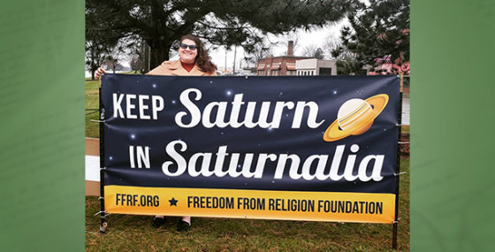 FFRF's 'Saturnalia' banner returns to Warren, Mich.