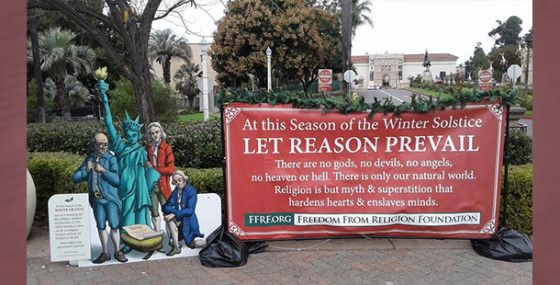 FFRF's Winter Solstice display returns to San Diego