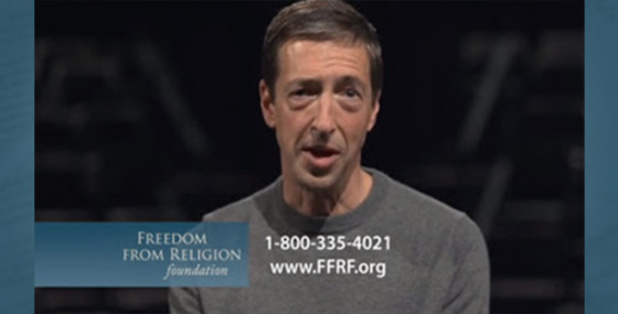 FFRF's iconic ad featuring Ron Reagan resumes
