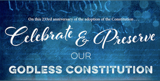 FFRF celebrates Constitution Day and our 'godless Constitution'