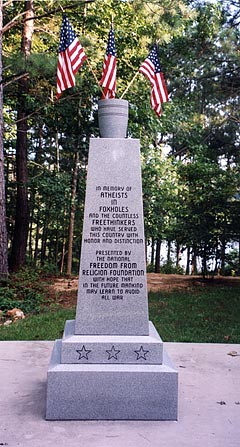 FFRF's monument to Foxhole atheists