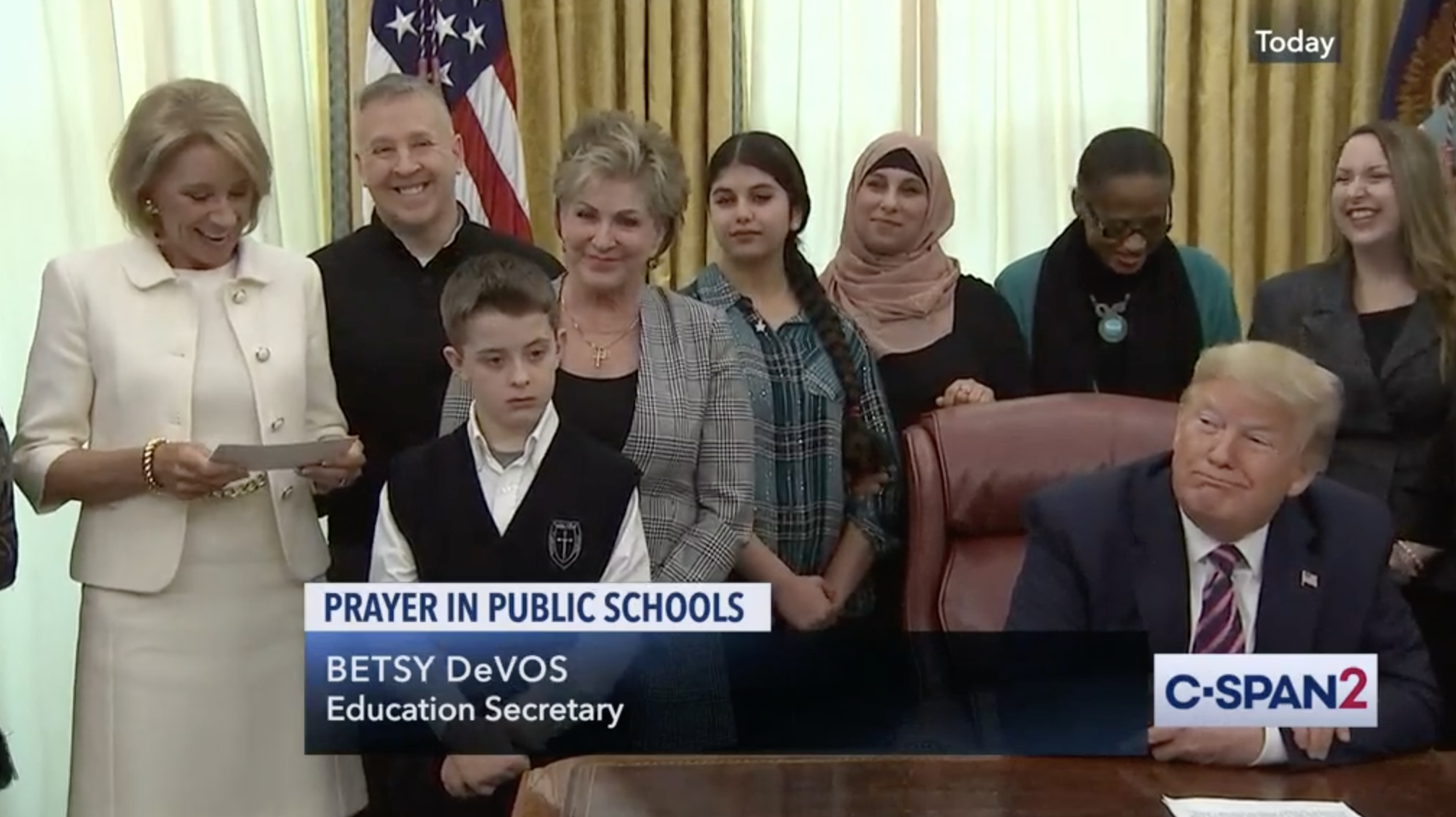 Prayer Trump DeVos